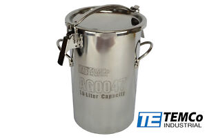 Temco 10 Liter 2 5 Gallon Stainless Steel Milk Can Wine Pail Bucket Tote Jug