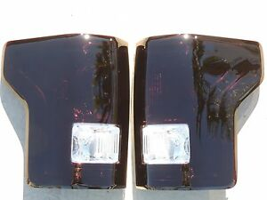 F150 15 17 Smoked Tail Lights Oem Custom Non Led Black Tinted Painted