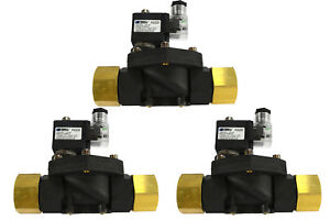 3 Lot 1 Npt Electric Plastic Nylon Solenoid Air Water Valve Nc 12v Dc Pneumatic