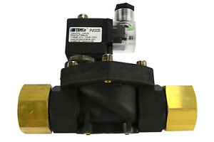 1 Npt Electric Plastic Nylon Solenoid Air Water Valve Nc 12v Dc Pneumatic