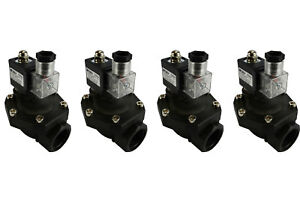 4 Lot 1 Bspp Electric Plastic Solenoid Air Water Valve Nc 110v Ac Pneumatic