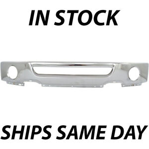 Chrome Steel Front Bumper Face Bar For 2006 2007 2008 Ford F150 Truck W Fog
