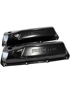 Aeroflow Black Steel Valve Covers For Ford 302 351 Cleveland Logo af1822 5001