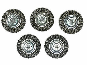 4 Knot Wheel Wire Brush Carbon Steel Wire 5 Pack