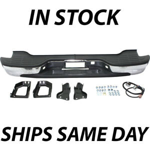 New Complete Chrome Rear Bumper For 2000 2006 Chevy Tahoe Suburban Gmc Yukon Xl