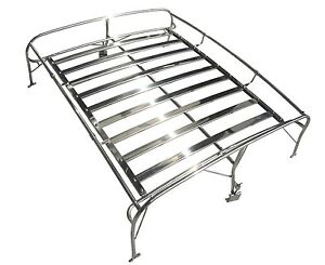 Qsc Volkswagen Vw Type 1 T1 Beetle Bug Stainless Steel Roof Rack For All Year