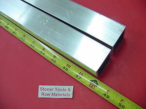 2 Pieces 1 1 2 x 1 1 2 x 1 8 Wall X 48 Long Aluminum Square Tube 6063 T52