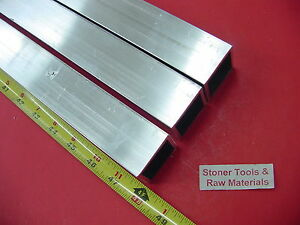 3 Pieces 1 1 2 x 1 1 2 x 1 8 Wall X 48 Long Aluminum Square Tube 6063 T52
