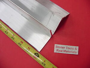 2 Pieces 2 x 2 x 1 8 Aluminum 6061 Angle Bar 48 Long T6 Extruded Mill Stock