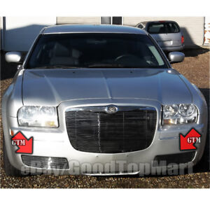 For Chrysler 300 2005 2010 Bumper Grille Insert Covers Fog Lights 05 06 07 08 10