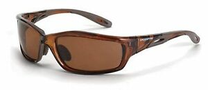 Crossfire 21126 Infinity Safety Glasses Hd Brown Polarized Lens crystal Brown Fr