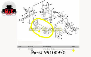 Sno Way 29 Series Plow Mount Vehicle Center Member Only Part 99100950