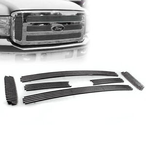 2005 07 Ford F250 F350 Super Duty Excursion Top Billet Grille Grill Insert 6pcs