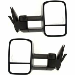 Power Mirror For 2003 2006 Gmc Sierra 2500 Hd Manual Fold With Signal Light 2pc