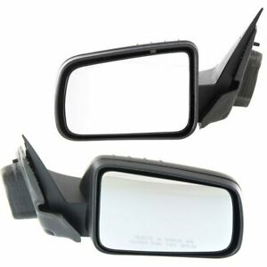 New Set Of 2 Mirror Left Right Side Power Textured Black Lh Rh Ford Focus Pair
