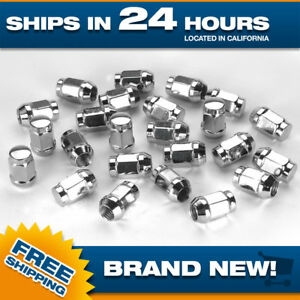 14x1 5 Lug Nut Set Of 24 Pc Lugnuts For Chevy Gm Gmc Ford Truck Chrome Acorn