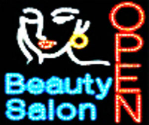 Led Neon Hair Cut Beauty Salon Open Business Sign B61