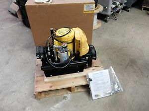 Enerpac Zw3 Series Electric Hydraulic Pump Zw3010hb fhlt21 5 000psi Workholding