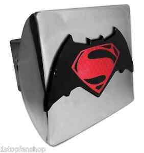 Batman V Superman Shiny Chrome Metal Hitch Cover dawn Of Justice Dc Comics