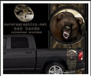 Bear Camouflage Hunting Truck Bed Band Vinyl Graphic Striping Set