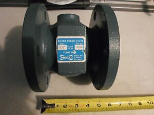 2 1 2 Nibco 910 Silent Check Valve Flanged Cast Iron 125 Bronze Disc Seat Nos