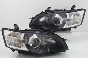 Subaru Legacy Liberty Bpe Bp5 Bl5 Sti Wrx Oem Hid Black Head Light Headlamp Jdm