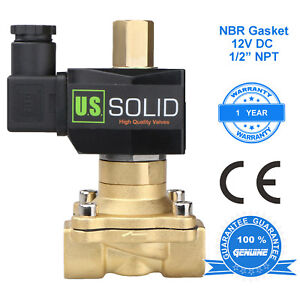U S Solid 1 2 Brass Electric Solenoid Valve 12v Dc Normally Open Nbr