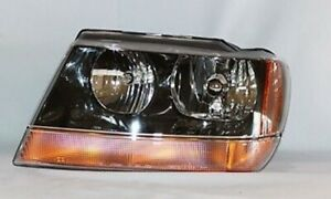 Left Side Headlight Assembly For 1999 2002 Jeep Grand Cherokee Laredo