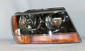 Right Side Headlight Assembly For 1999 2002 Jeep Grand Cherokee Laredo