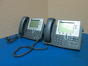 Lot Of 2 Cisco Systems 7940 Cp 7940g Ip Business Phone
