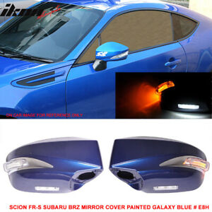 Fits 13 15 Scion Frs Toyota Gt86 Ft86 Led Painted Side Mirror e8h Galaxy Blue