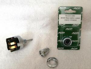 1965 66 Ford Mustang Windshield Wiper Kit Includes 2 Speed Switch Bezel Knob