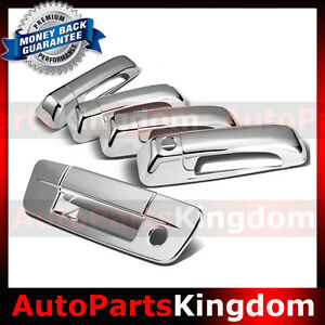 09 16 Dodge Ram Chrome 4 Door Handle Tailgate With Keyhole No Camera Hole Cover