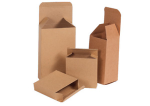Kraft Reverse Tuck Folding Carton Chipboard Box 30 Sizes Available 49 99 99 99