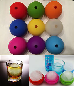 2 5 Bar Silicone Ice Cube Ball Maker Mold Sphere Large Tray Whiskey Diy Mould
