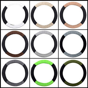 Cc Cotton Steering Wheel Cover Two Tone Choose From 22 Colors Set Of Two