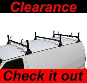 Chevy Express Fullsize Van 3bar 1996 On Ladder Roof Racks Steel Black New Rack