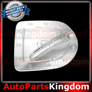 Triple Chrome Gas Door Cover For 05 15 Nissan Frontier Short Truck Bed Only