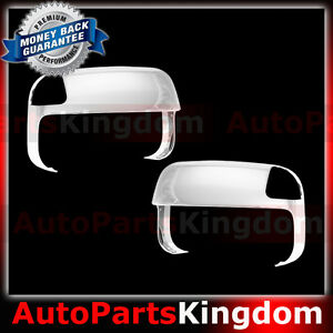 10 16 Dodge Ram 1500 2500 3500 Hd Triple Chrome Top Half Tow Towing Mirror Cover