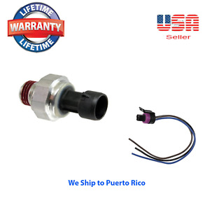 Engine Oil Pressure Sender With Pigtail Connector Kit Fits Gm Hummer Isuzu Saab
