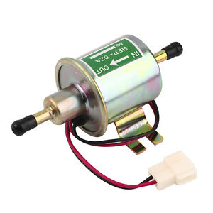 Universal 12v Electric Fuel Pump Diesel Petrol Low Pressure Hep 02a