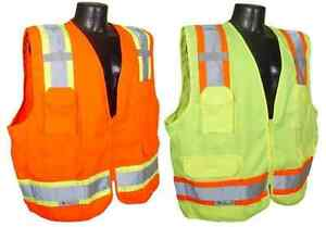 Radians Sv62 Class 2 Two Tone Surveyor Safety Vests Solid Twill