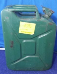 Vintage Bellino Jerry Can 5 Gallon Steel Gas Can Fuel Military Metal Steel Tank
