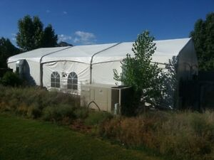 Used Clear Span Tent 40 X 60 Nice Condition A c Included