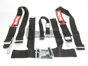 Racequip Racing Seat Belt Safety Harness Black 3 Inch 5 Point Latch