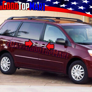 For Toyota Sienna 2005 2007 2008 2009 2010 Chrome 4 Door Handle Covers W Keyhole