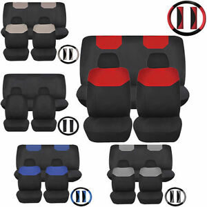 Elegant1 Combo Low Back Front Car Seats Bench Covers Polyester