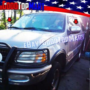 For Ford Expedition 1997 1998 1999 2000 2001 2002 Chrome Cap Mirror Covers Pair