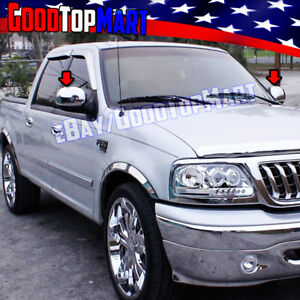 For Ford F150 1997 2001 2002 2003 Heritage 2004 Chrome Mirror Cap Covers Pair