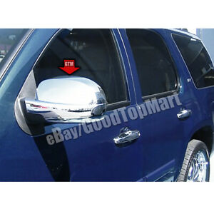 For Chevy Tahoe 07 2008 2009 2010 2011 2012 2013 2014 Chrome Full Mirror Covers